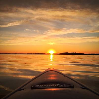 Sunset Kayak 2 Art Print