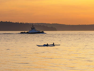 Photograph - Sunset Kayaking by Kyle Wasielewski