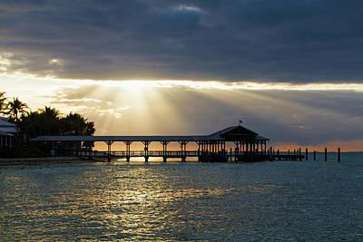 Photograph - Sunset Key Dock Sunset by Bob Slitzan