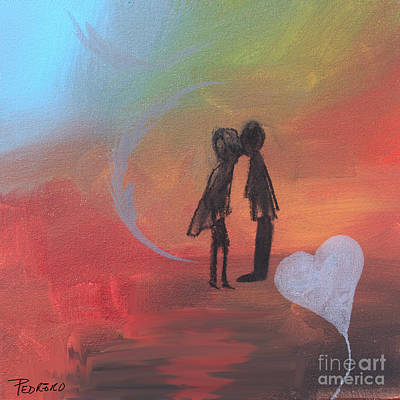Painting - Sunset Kiss by Robin Maria Pedrero