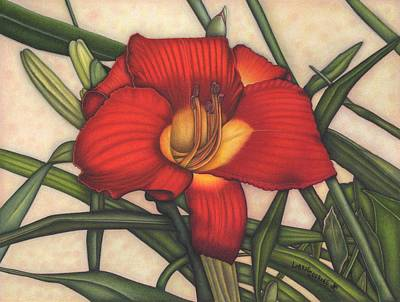Exotic Plants Drawing - Sunset Kissed by Lorrie Cerrone