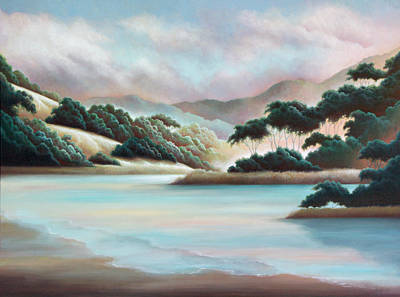 Painting - Sunset Lagoon by Charle Hazlehurst