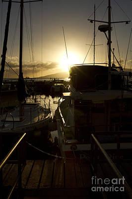 Sunset Lahaina Harbour Maui Marinas Hawaii Art Print by Sharon Mau