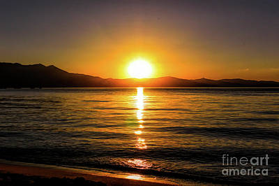 Photograph - Sunset Lake 1 by Joe Lach
