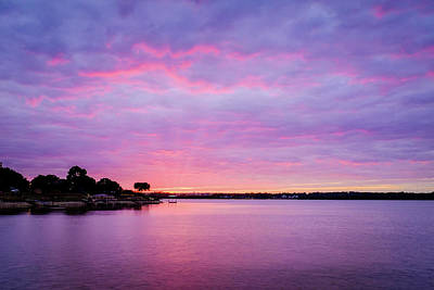 Photograph - Sunset Lake Arlington Texas by Robert Bellomy