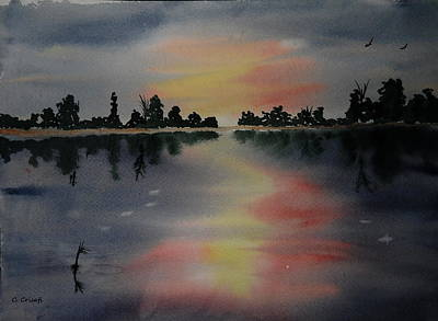 Painting - Sunset Lake by Carol Crisafi