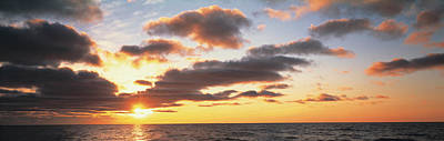 Sunset Lake Michigan Mi Usa Art Print by Panoramic Images