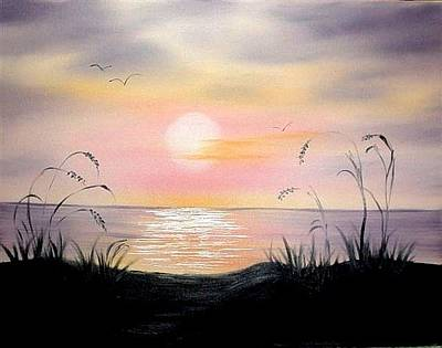 Painting - Sunset Lake by Natascha de la Court