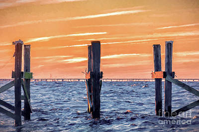Photograph - Sunset Lake Pontchartrain - Nola by Kathleen K Parker