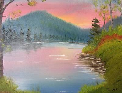 Painting - Sunset Lake by Thomas Janos