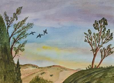 Sunset Landscape I Original