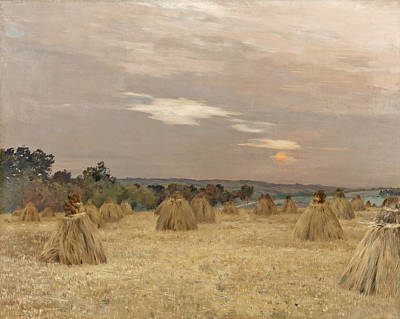 Painting - Sunset Late Summer by Jean-Charles Cazin