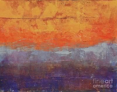 Monotype Painting - Sunset by Laurel Englehardt