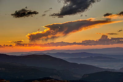 Photograph - Sunset Layers by David R Robinson