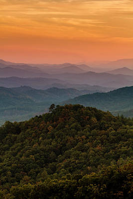 Photograph - Sunset Layers In The Smoky Mountains by Teri Virbickis
