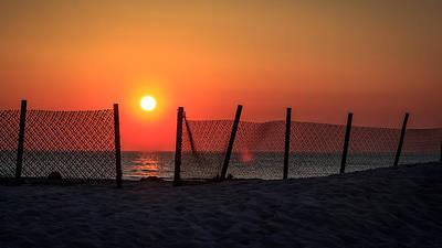 Zaun Photograph - Sunset Light by Gerd Fischer