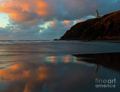 Photograph - Sunset Light Reflections by Mike Dawson