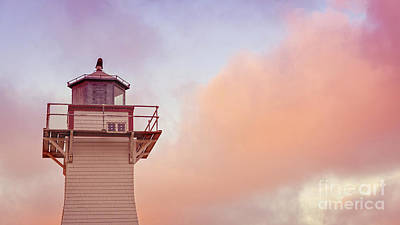 Photograph - Sunset Lighthouse Prince Edward Island by Edward Fielding