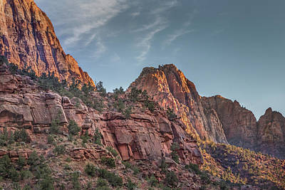 Photograph - Sunset Lighting At Zion by James Woody