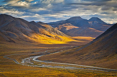 Dalton Highway Photograph - Sunset Lighting Brooks Range by Sunny Awazuhara- Reed