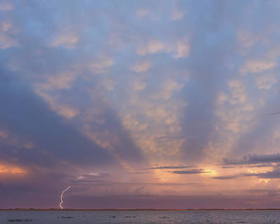 Photograph - Sunset Lightning by Rob Graham