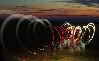 Photograph - Sunset Lights by Art Cole