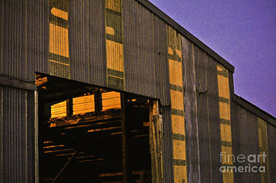 Digital Art - Sunset Lights The Barn by Clayton Bruster