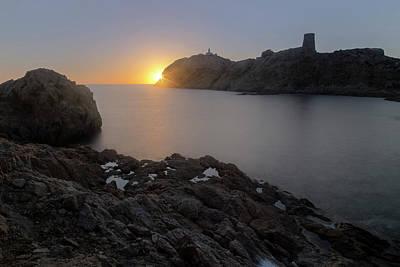 sunset L'Ile Rousse - Corsica Art Print