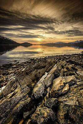 Photograph - Sunset, Loch Lochy by Peter OReilly