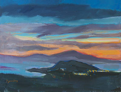 Painting - Sunset Looking West by Suzanne Cerny