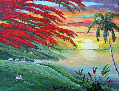 Painting - Sunset by Luis F Rodriguez