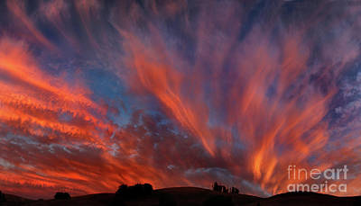 Photograph - Sunset Magic Panorama, Sonoma County, California by Wernher Krutein