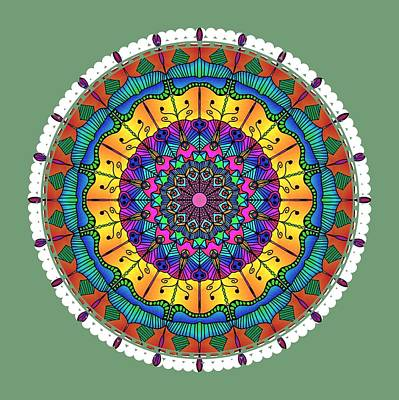 Digital Art - Sunset Mandala by Becky Herrera