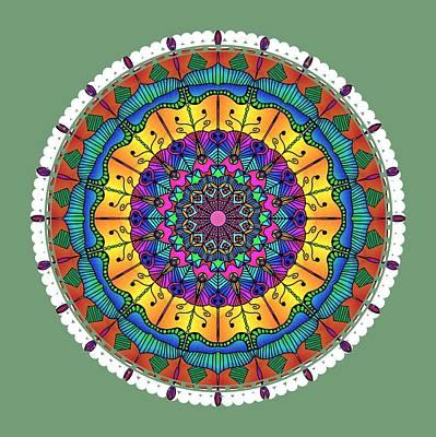 Digital Art - Sunset Mandala by Becky Herrera