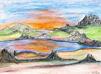 Sunset Art Print by Margie  Byrne