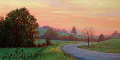 Painting - Sunset Meditation- In The Blue Ridge Mountains by Bonnie Mason