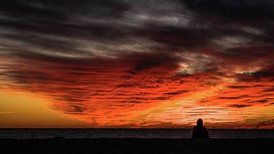 Photograph - Sunset Meditation Venice Florida by Lawrence S Richardson Jr