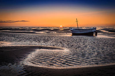 Photograph - Sunset, Meols Beach by Peter OReilly