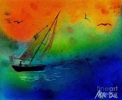 Sunset Art Print by Michael Grubb