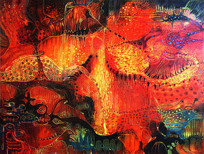 Sunset Mirage II Art Print by Lolita Bronzini