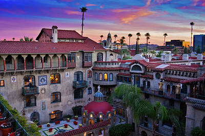 Photograph - Sunset Mission Inn  by Kyle Hanson