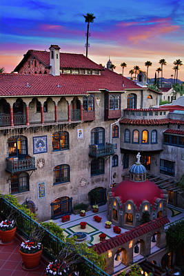 Photograph - Sunset Mission Inn Portrait by Kyle Hanson