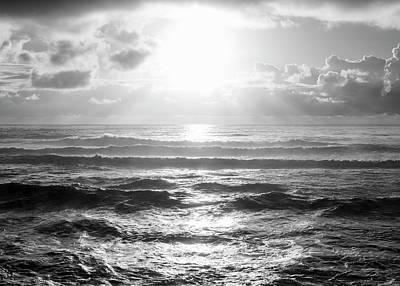 Photograph - Sunset Monochrome by Joseph S Giacalone