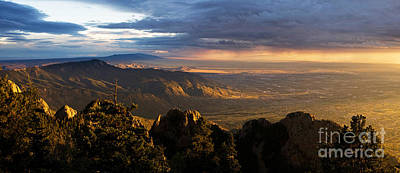 Enchanted Photograph - Sunset Monsoon Over Albuquerque by Matt Tilghman