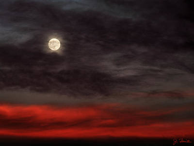 Photograph - Sunset Moon by Joe Bonita