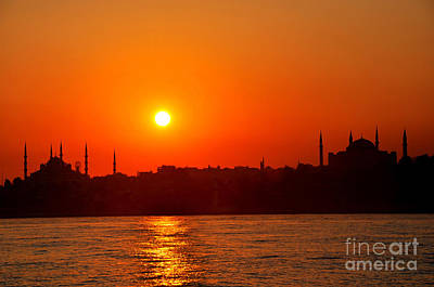 Photograph - Sunset Mosques by Andrew Dinh