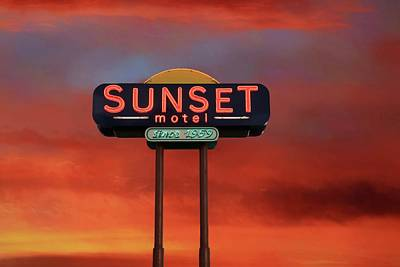 Photograph - Sunset Motel by Donna Kennedy