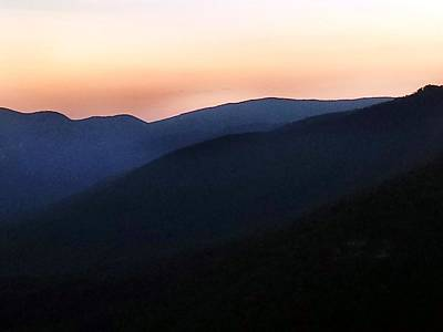 Photograph - Sunset Mountain Layers by Kathy Barney