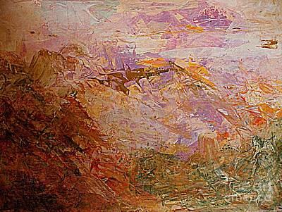 Painting - Sunset Mountain by Nancy Kane Chapman