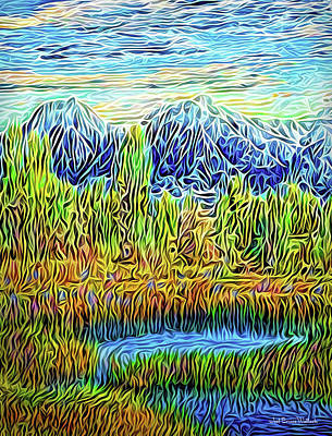 Digital Art - Sunset Mountain Reverie by Joel Bruce Wallach